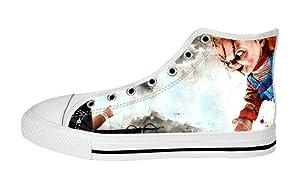 Men's High Top Full Canvas Upper Shoes Soft Inner Horrific Chucky Design