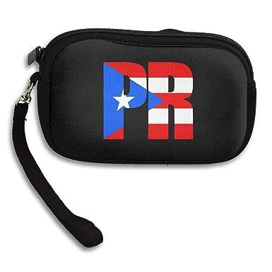 Amazon.com: Monedero Puerto Rican Bandera personalizada ...