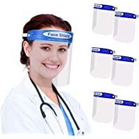 6 PCS Face Protection for Kitchen,Face Visor Protect from Oil, Reusable lightweight Sponge Transparent Adjustable…