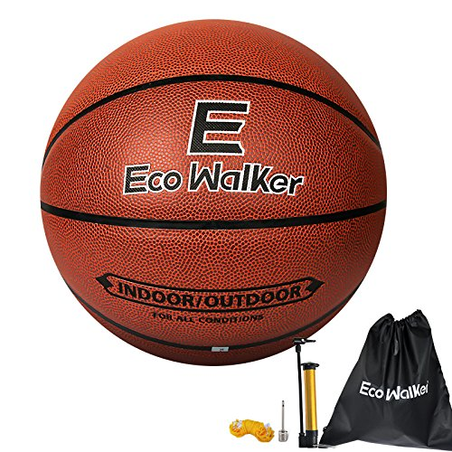 Eco Walker Basketball Indoor/Outdoor Official Size 7 with pump needle and backpack