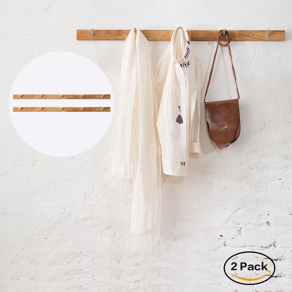 INNMAN - Perchero de pared con gancho de madera maciza de ...
