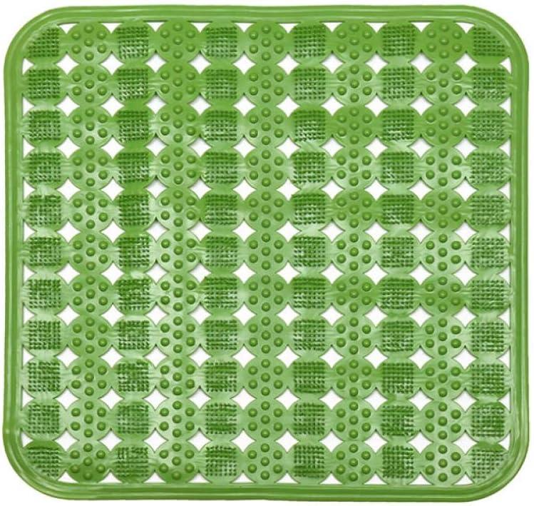 HADAIZI Tapis de Baignoire Antid/érapant Anti-moisissure Antibact/érien Lavable en Machine avec Ventouse Tapis de Douche Bath Shower Mat Extra Long Rose 45x45CM