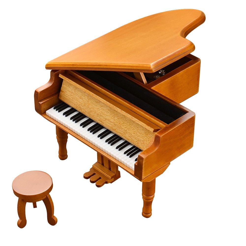 【保存版】 B01LXY6C9L木製ピアノ音楽ボックスブラウン B01LXY6C9L, ベビー用品のBebe chambre:ef57ab7a --- arcego.dominiotemporario.com
