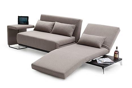 Amazon.com: J & M Muebles jh033 Gris de tela sofá cama: Home ...
