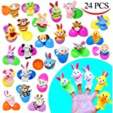 """24 Pieces 2 3/8"""" Finger Puppet Easter Eggs for Easter Theme Party Favor, Easter Eggs Hunt, Basket Stuffers Fillers, Classroom Prize Supplies by Joyin Toy"""