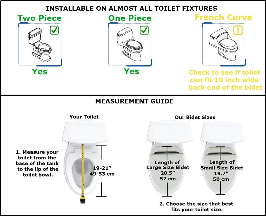 Uspa Ub 6235 Warm Water Bidet Toilet Seat Dual Nozzle Heated Seat