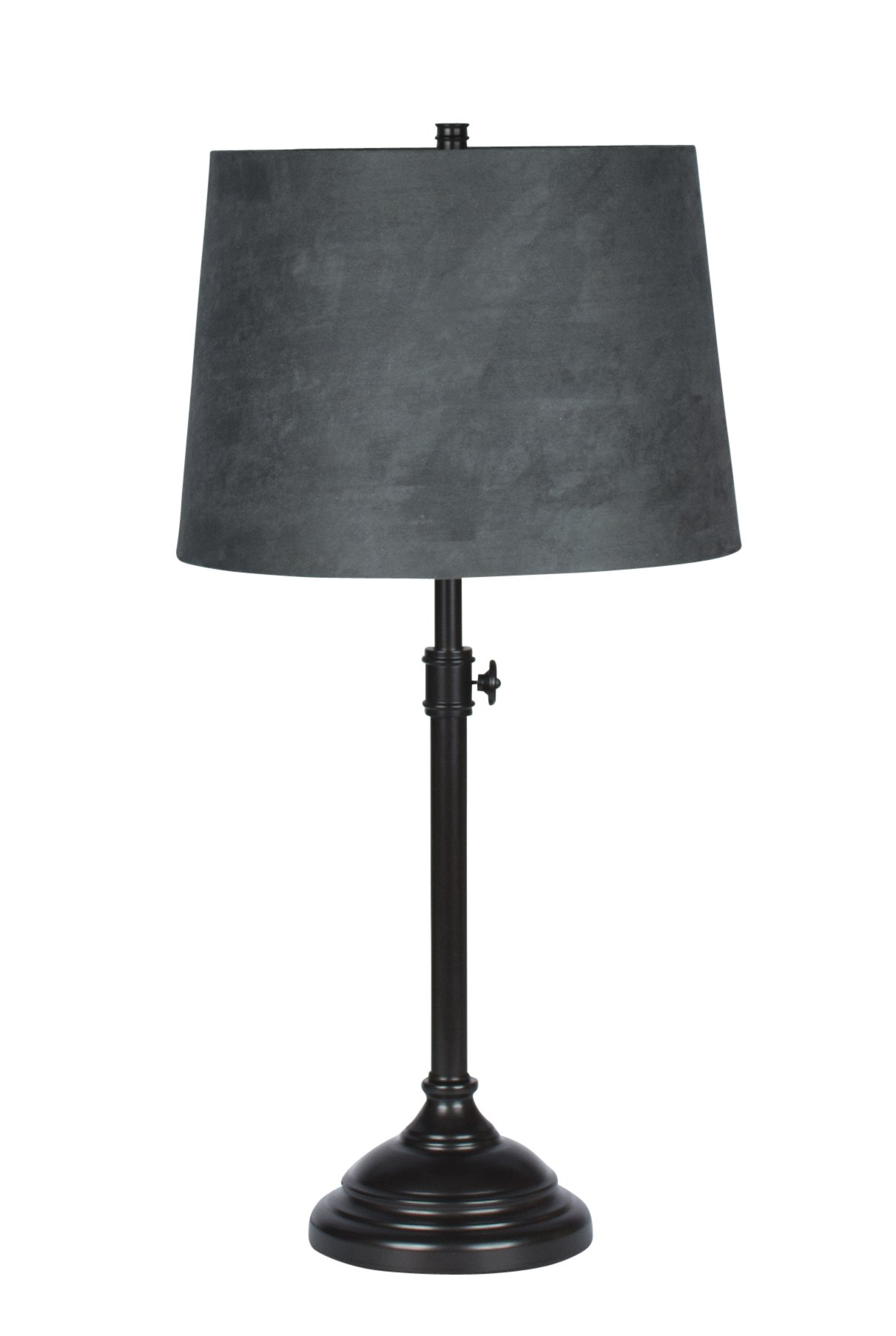 Urbanest Windsor Adjustable Table Lamp, Oil-Rubbed Bronze Finish Lamp Base with Gray Suede Lampshade