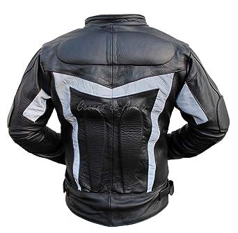 b255c7daee5 Ceceña   Arce CHAMARRAS DE Piel con Protecciones Motociclista Bikers CS21   Amazon.com.mx  Ropa