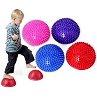 Ruluti Pods Ball Half Spiky Fitness Domes voor Kids Volwassenen Sport Voetmassage Stabiliteit Training Spier Balancing…