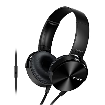 4b6cedc26c5 Sony Extra Bass MDR-XB450AP On-Ear Headphones with Mic: Amazon.in:  Electronics