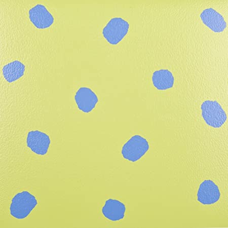 Self Adhesive Vinyl Flooring Tiles Dots Green And Blue 1m2 Pack Of 11