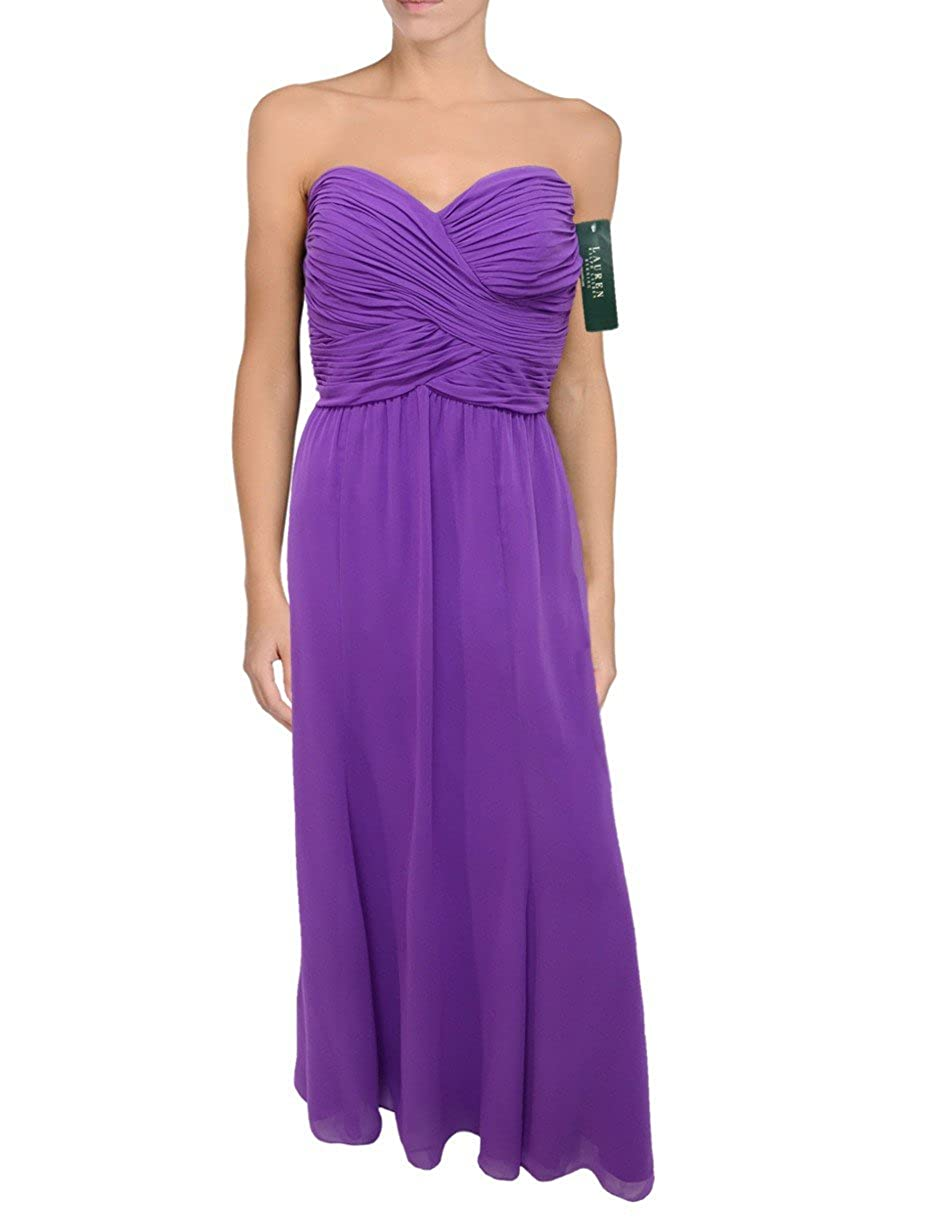 984429388e4 Ralph lauren pleated strapless chiffon evening gown violet purple dress  clothing jpg 950x1230 Ralph lauren long
