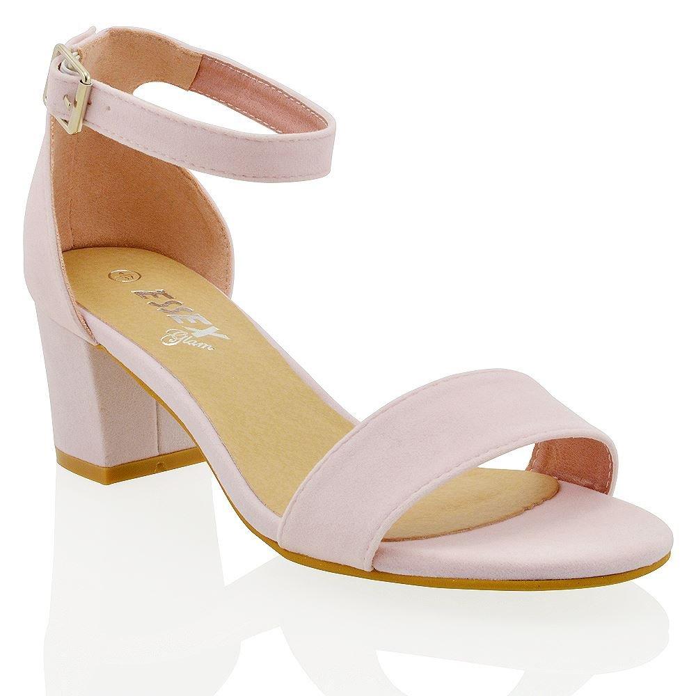 Sintetico Sandalo Tacco Essex Donna Con Alla Cinturino Glam Caviglia EIWY92DH
