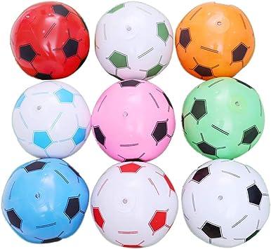 Toyvian 6 Unids Inflables Balones de Fútbol para Niños Juguetes de ...