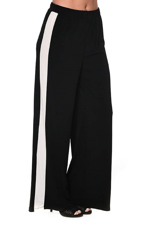 Bw Vogue X-Large Bw Vogue X-Large Isle Apparel by Melis Kozan Wide Leg Side Stripe Pant