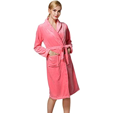 VOYOAO Womens Flannel Robes Long Bathrobe Soft Pajamas Shower  Nightgown(Small Medium 524d61f30