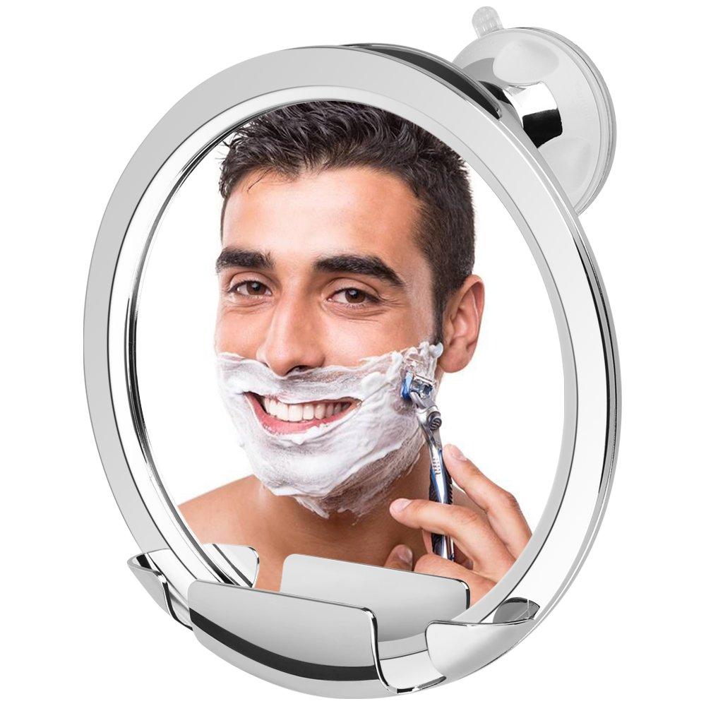 jerrybox fogless shower mirror with built in razor holder fog free bathroom shaving. Black Bedroom Furniture Sets. Home Design Ideas