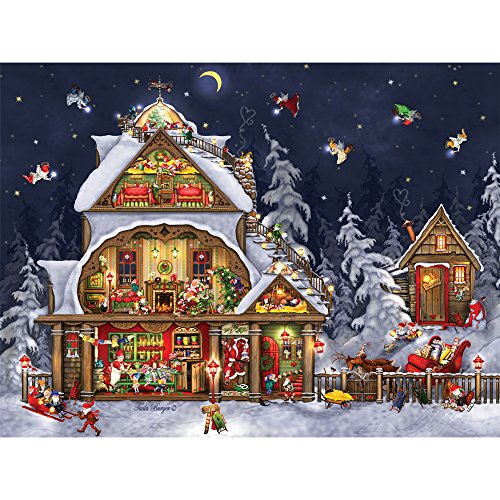 House 1000 Piece Puzzle (Bits and Pieces - 1000 Piece Jigsaw Puzzle for Adults - Santa's House - 1000 pc Christmas, North Pole Jigsaw by Artist Tuula Burger)