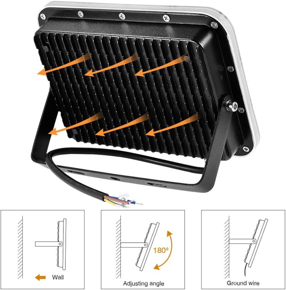 100W Projecteur LED Ext/érieur Cour Entr/ée Garage Terrasse Super Lumineux 8000LM Blanc Froid 6500K /éclairage de S/écurit/é pour Jardin IP67 /étanche Spot LED Ext/érieur