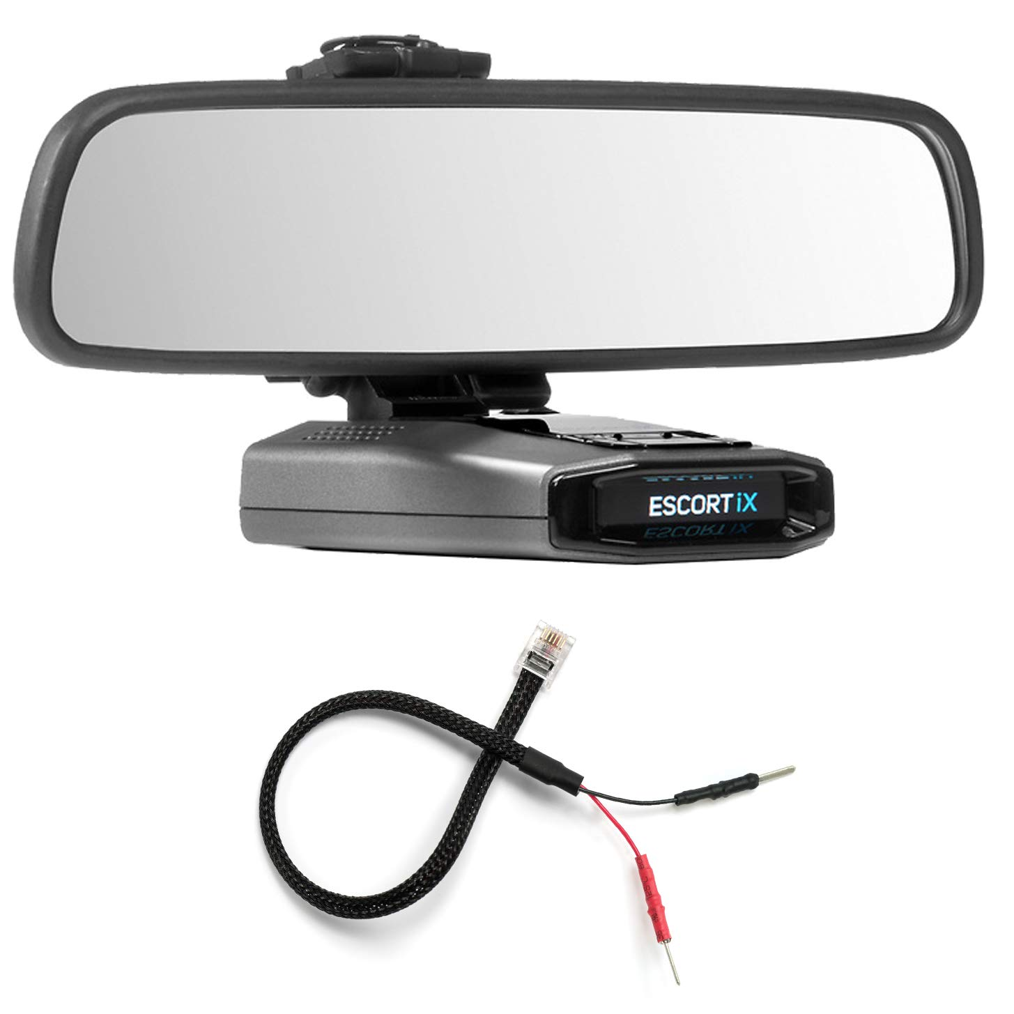 Radar Mount Mirror Mount Bracket + Mirror Wire Power Cord for Escort IX EX Max360C (3001107) by Radar Mount