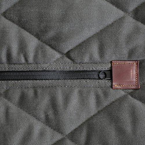 Solvit 62446 Premium Extra-Wide Bench Seat Cover, Grey