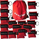 100pcs/lot RED CPR MASK WITH KEYCHAIN CPR FACE SHIELD For AED First AID