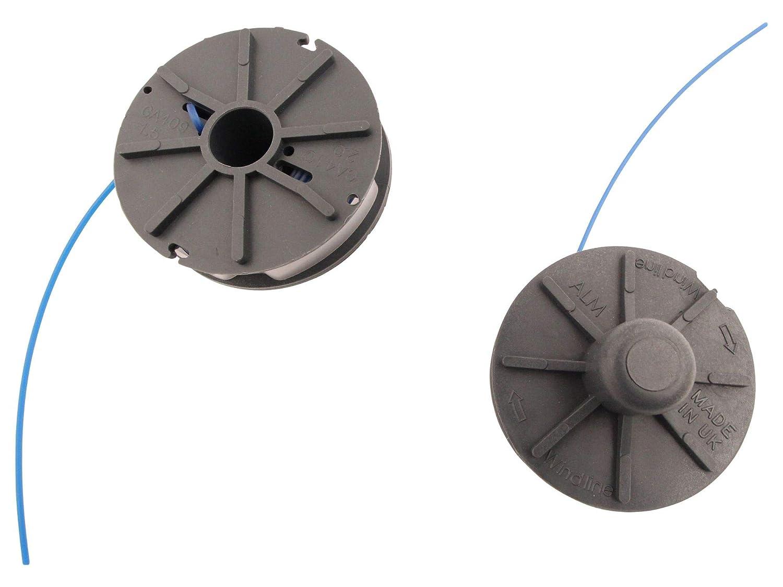 Bobina de hilo de 1,5 mm (2 unidades) compatible con Einhell GT-ET ...