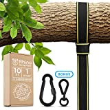 EXTRA LONG TREE SWING STRAPS HANGING KIT – 10ft Strap, Holds 2800 lbs (SGS Certified), Fast & Easy Way to Hang Any Swing