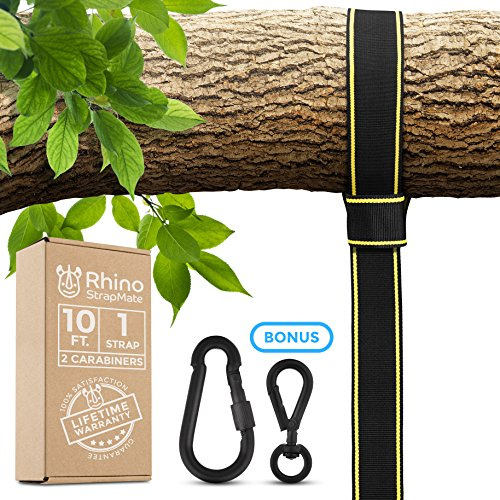 EXTRA LONG TREE SWING STRAPS HANGING KIT – 10ft Strap, Holds 2800 lbs (SGS Certified), Fast & Easy Way to Hang Any Swing (Kit Way)