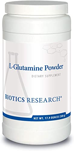 Biotics Research L Glutamine Powder Powdered Formula, 3 Serving, Gastrointestinal Health, Gut Lining Support, Muscle Repair, Lean Muscle, Antioxidant Activity. 17.9 Ounces 500grams 166 Servings