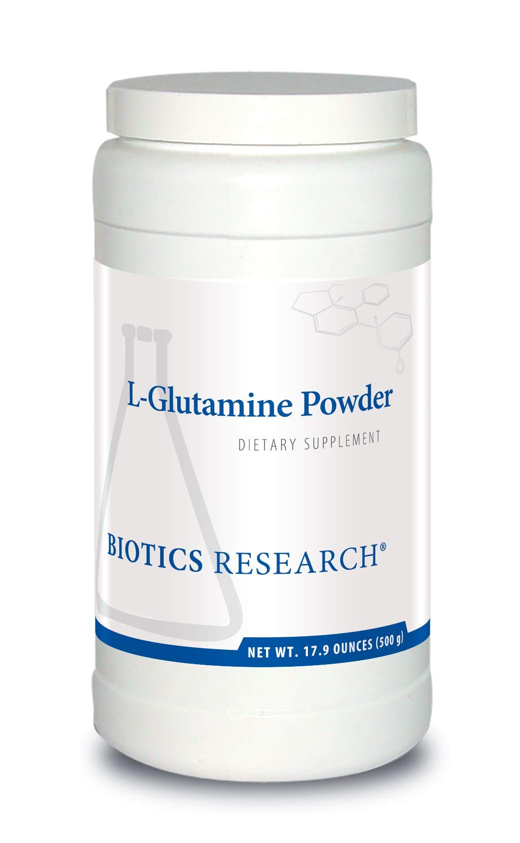 Biotics Research L-Glutamine Powder - Powdered Formula, 3 g/Serving, Gastrointestinal Health, Gut Lining Support, Muscle Repair, Lean Muscle, Antioxidant Activity. 17.9 Ounces (500g)(166 Servings)