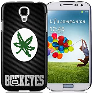 Fashionable And Unique Designed With Ncaa Big Ten Conference Football Ohio State Buckeyes 40 Protective Cell Phone Hardshell Cover Case For Samsung Galaxy S4 I9500 i337 M919 i545 r970 l720 Phone Case Black