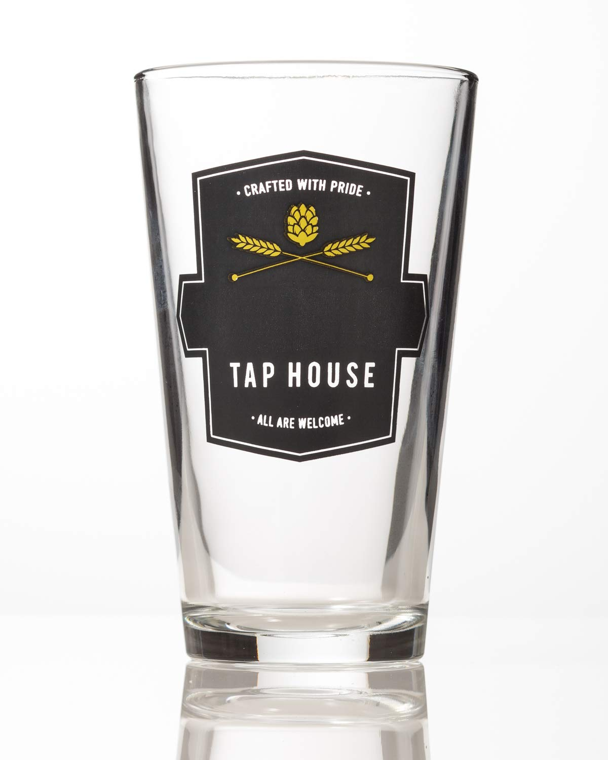 GiftTree Tap House Custom Beer Glasses | Set of 4 Pint Glasses made by Libbey Glass | Perfect Present for Housewarming, Wedding, Groomsmen, Father's Day, Birthday and Holidays by GiftTree (Image #6)