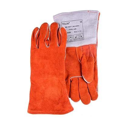 GG-gloves Guantes de Soldadura eléctrica Aislamiento de Calor Industrial de Alta Temperatura Anti-