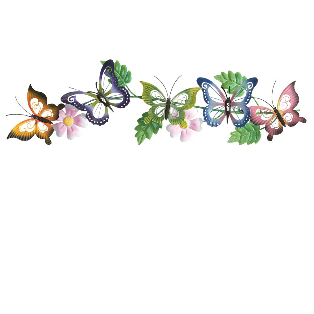 Collections Etc Butterfly Floral 3d Metal Wall Art by Collections Etc