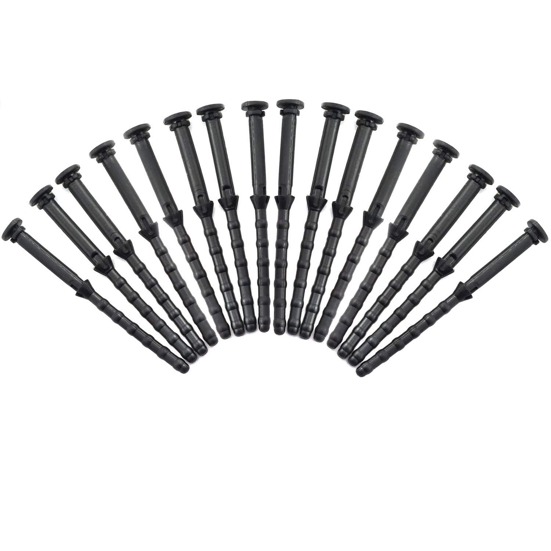 Magic&Shell 16pcs 67mm Rubber Fan Mounting Screws Computer PC Case Noise Absorbtion Anti Vibration Pin Rivet Black