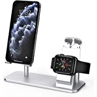 ATUMTEK 3 in 1 Cell Phone Stand, Stand Charging Dock Compatible with Apple Watch and AirPods, Adjustable Desktop Stand…