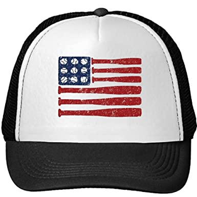 unisex baseball flag bats ball red white blue adjustable cap one with american patch camo hat