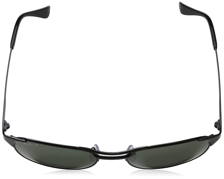 6c98e5fbe4bdce Amazon.com  Ray-Ban Signet RB3429 002 58 Sunglasses Black Frame 55mm w   Polarized Crystal Green Lens   Clothing