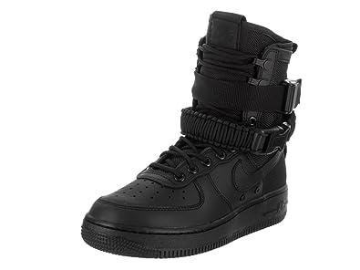 Nike Damen SF Air Force 1 Schwarz Leder Stiefel 42.5: Amazon
