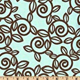 54'' Wide Premier Prints Trellis French Blue/Kelso Brown Fabric By The Yard
