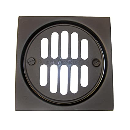 Oil Rubbed Bronze Shower Drain Cover.Simpatico 31341ob Drain Tile Square Set With 4 1 4 Square And 3 3 8 Round Grill Ring With Screws For Shower Dark Oil Rubbed Bronze