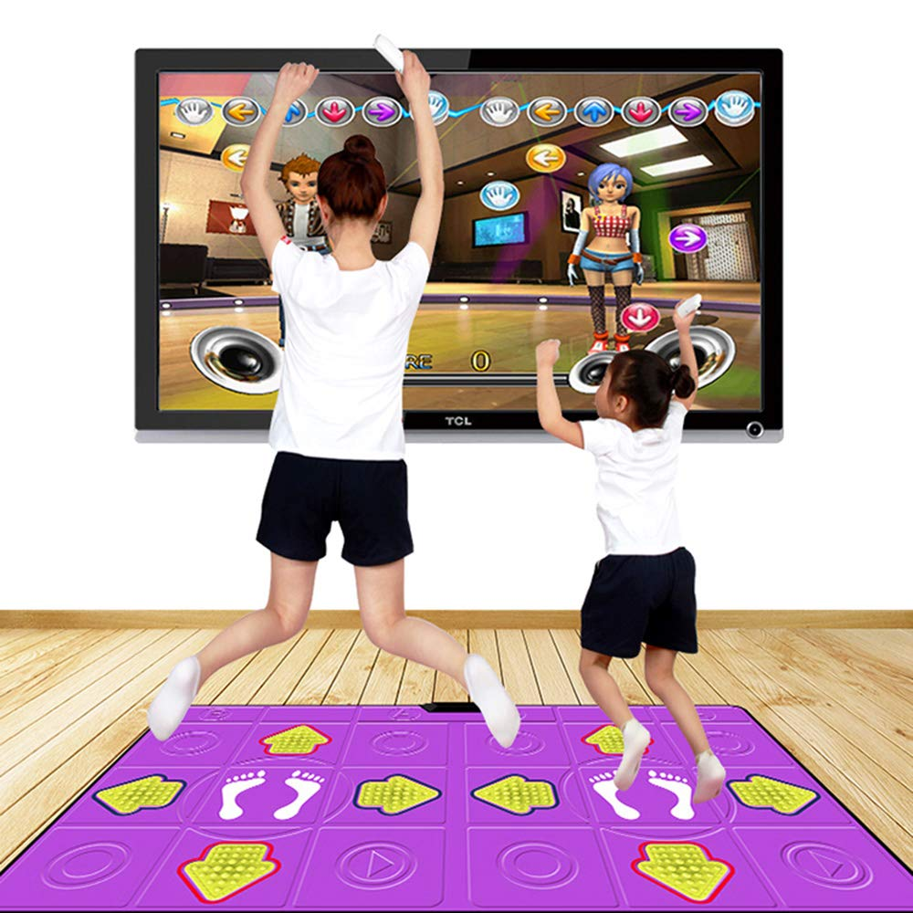 Dance mat Double Hd Game Console Child Adult Weight Loss Machine Pu Material 3D Picture, Silicone Massage Non-Slip, Family Game by Dance mat (Image #3)