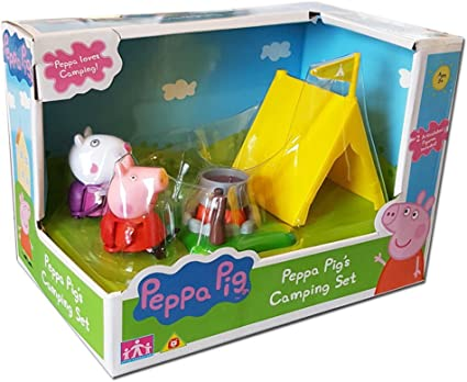 Amazon.com: Peppa Pig – Camping Set con 2 cifras: Toys & Games