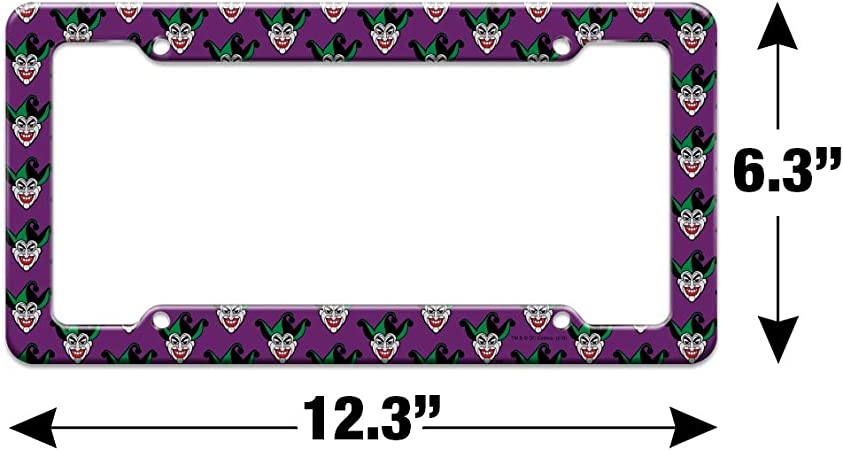 Graphics and More Batman Comic Pattern License Plate Tag Frame