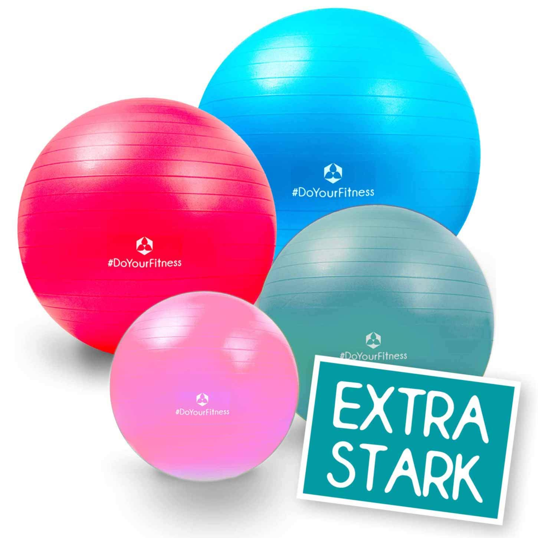#DoYourFitness Ballon de gym avec pompe à air/Idéal pour la gymnastique, l'entrainement du dos & les exercices pendant la grossesse/Dimension 55 cm 65 cm 75 cm et 85 cm/disponible en 9 couleurs #DoYourSports