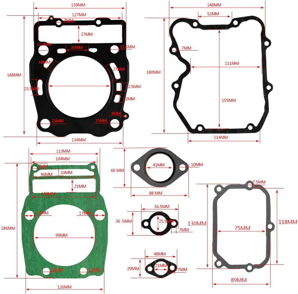 FLYPIG Cylinder Head Base Gasket Kit Set fit Combo Polaris Sportsman Scrambler Worker 500 1996-2014 Replaces 3089966 308537