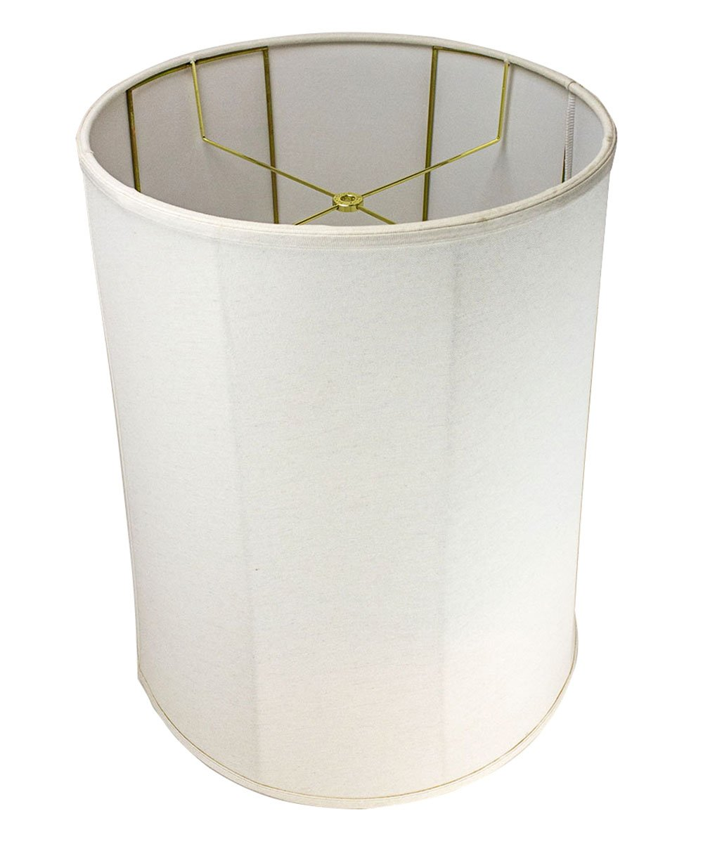 HomeConcept 161822DRLO Collapsible Drum Lamp Shade Premium Light Oatmeal Linen, 16'' x 18'' x 22''