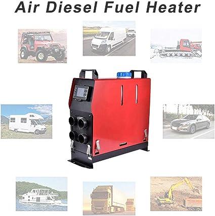 Euopat Calentador Diesel,Juego De Calentador De Combustible Diesel De Estacionamiento De Aire 5KW 12V / 24V Juego De Calentador Diesel De Aire Calentador De Vehículo con Control Eléctrico: Amazon.es: Hogar