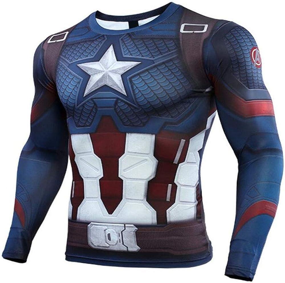 YaYang Camiseta de superhéroe Camiseta Deportiva de compresión ...